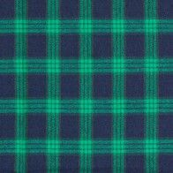 Brushed Cotton - Green & Navy Check
